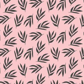 Pink and Grey Botanical