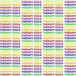 Rainbow Therapy Dog