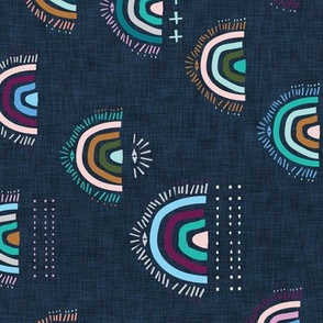 Pop Moroccan Rainbow (navy) rotated MED