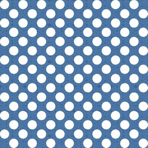 polka dots blue, medium scale