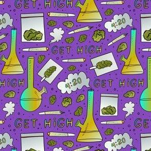 small scale / smoking marijuana purple
