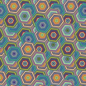 Hexagon vector seamless pattern 8700