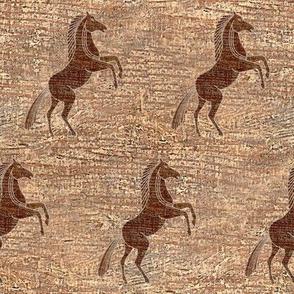 Prancing Pony on Wood
