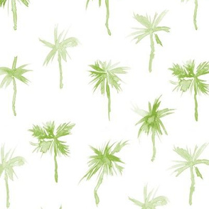 Khaki Palm d'Azur - watercolor palms for beach and summer