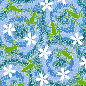 midsommer frogs+flowers D cleaner lines spoonfloer eq 10X