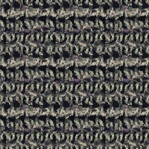 Seamless distressed glitch blur woven texture background.