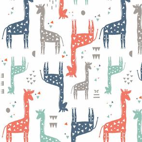 Multi-Colored Giraffes Medium