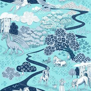 Mythical Creatures Toile aqua