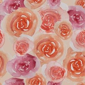 Watercolour florals repeat 3