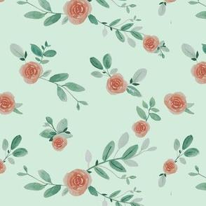 Watercolour florals repeat 2-ch