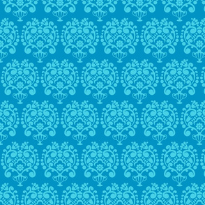 SIMPLE DAMASK 2 BRIGHT EARTH BLUES