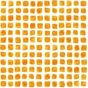 crayon square grid in solar orange