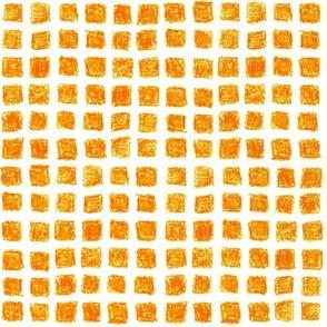 crayon squares in solar orange