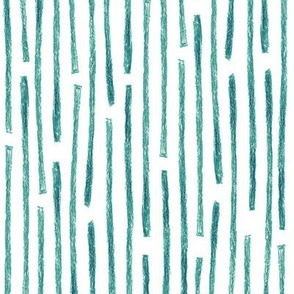 crayon vertical stripes in teal