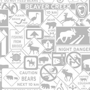 Canadian Wildlife Highway Signs