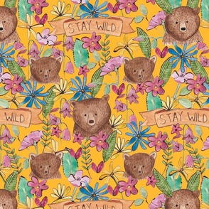 Stay_wild_canadian_bear_and_wild_flowers