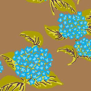 Hydrangeas Blue Coco Chartreuse