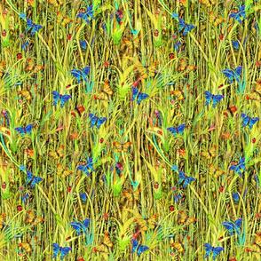 Green Room Grass Butterflies and Ladybirds