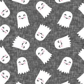 cute ghost - halloween kids happy ghost - grey - LAD20