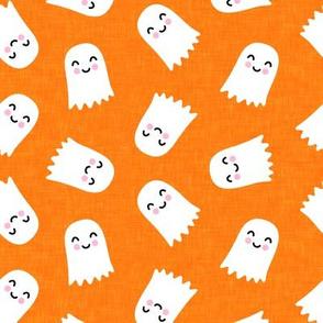 cute ghost - halloween kids happy ghost - orange - LAD20