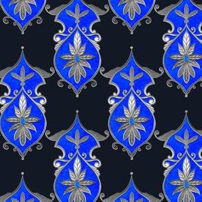 Flower Blue Shield