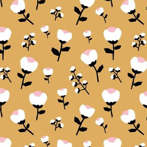 Paper cut flower garden and leaves ochre fall autumn neutral nursery design