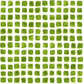 crayon square grid in leaf green