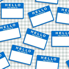 hello my name is...   (in blue on grey)
