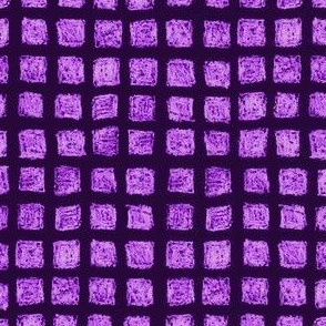 batik square grid - mad purple