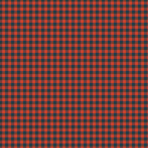 "1/8"" gingham - red and navy"