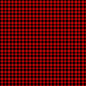 "1/8"" gingham - red and black"