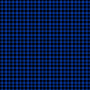 "1/8"" gingham - black and royal blue"