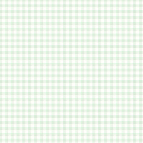 """1/8"""" gingham - pale green and white"""