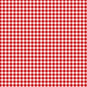 "1/8"" gingham - English red and white"