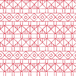Hand Drawn Geometric Red