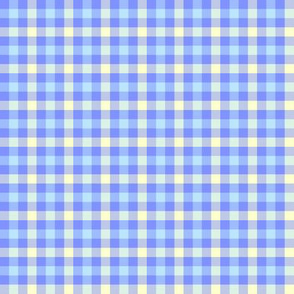 double gingham - light blue and cream