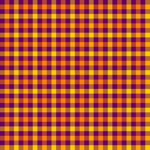 double gingham - purple, orange and yellow