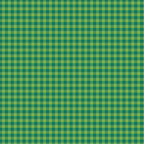 """1/8"""" gingham - greenery and teal"""