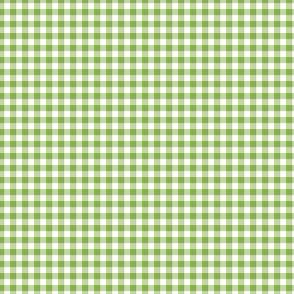 "1/8"" greenery and white gingham"