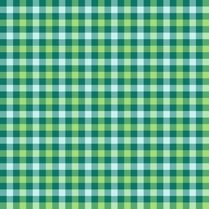 double gingham - serene green