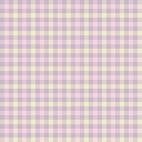 double gingham - lilac, mauve and pink