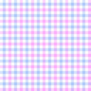 double gingham - sweet blue and pink