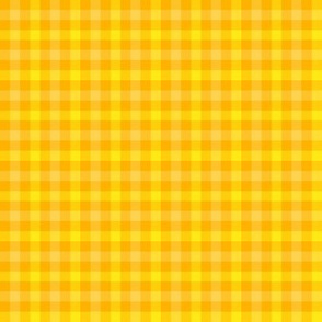 double gingham - saffron, yellow and gold
