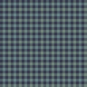 double gingham - navy and slate