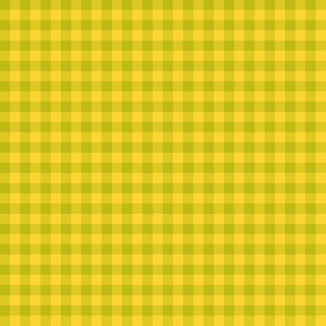 wasabi and yellow gingham