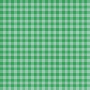 green on green gingham