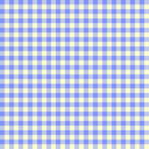 summer blue and cream gingham