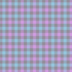 double gingham - grey, lavender, and light blue
