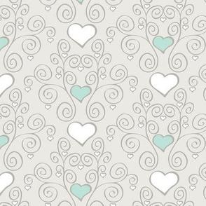 Heart Lattice Scrolls for Baby