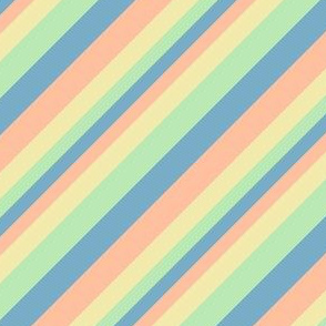 Retro Diagonal Stripes in Pastel Sorbet '82